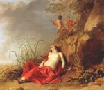 Dirck van der Lisse: Spící nymfa (po roce 1642), olej na plátně