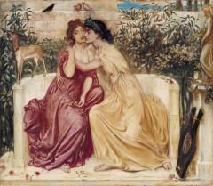 Sapfó a Erina v zahradě Mytilenské
