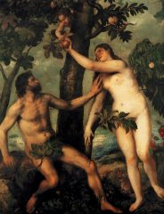 Tizian: Adam a Eva
